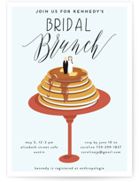 This is a red bridal shower invitation by Haley Warner called Bridal Brunch with standard printing on signature in standard.