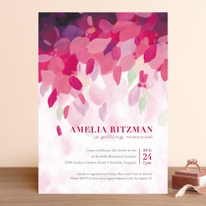 """""""Azalea"""" - Bridal Shower Invitations in Azalea by Holly Whitcomb."""
