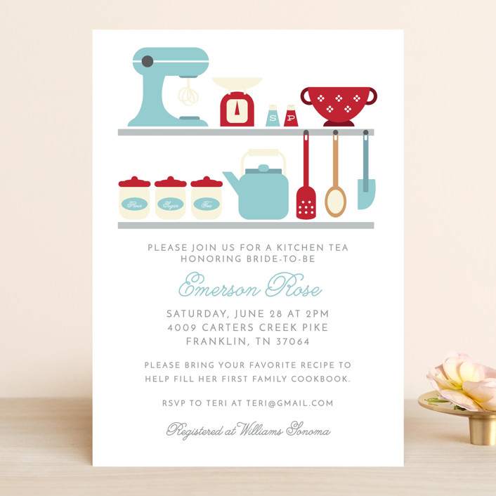 """""""A bridal kitchen tea"""" - Bridal Shower Invitations in Frost by Caitlin Considine."""