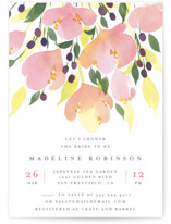 This is a pink bridal shower invitation by Four Wet Feet Studio called Pink Blossoms with standard printing on signature in standard.