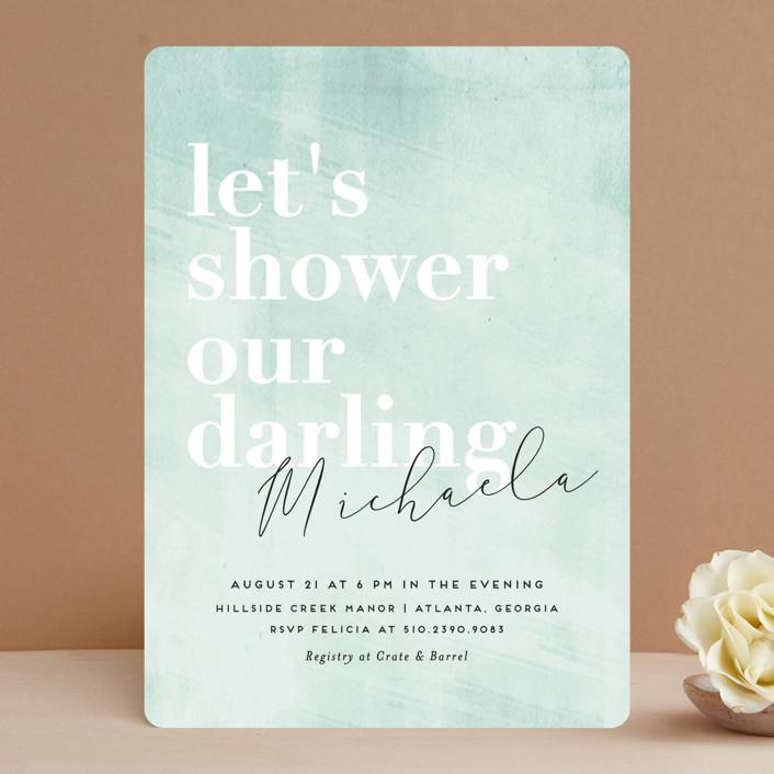 """Sorbet"" - Bridal Shower Invitations in Seablue by chocomocacino."