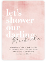 This is a pink bridal shower invitation by chocomocacino called Sorbet with standard printing on signature in standard.