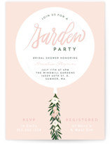 This is a pink bridal shower invitation by Itsy Belle Studio called Garden Balloon with standard printing on signature in standard.