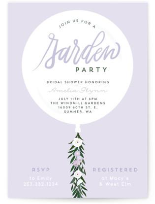 Garden Balloon Bridal Shower Invitations