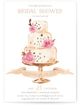 This is a orange bridal shower invitation by Benita Crandall called Princess cake with standard printing on signature in standard.