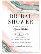 62f4cdaa0bb This is a pink bridal shower invitation by Alethea and Ruth called Painted  Layers Splash with