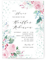 This is a pink bridal shower invitation by Qing Ji called Wild and Beautiful with standard printing on signature in standard.