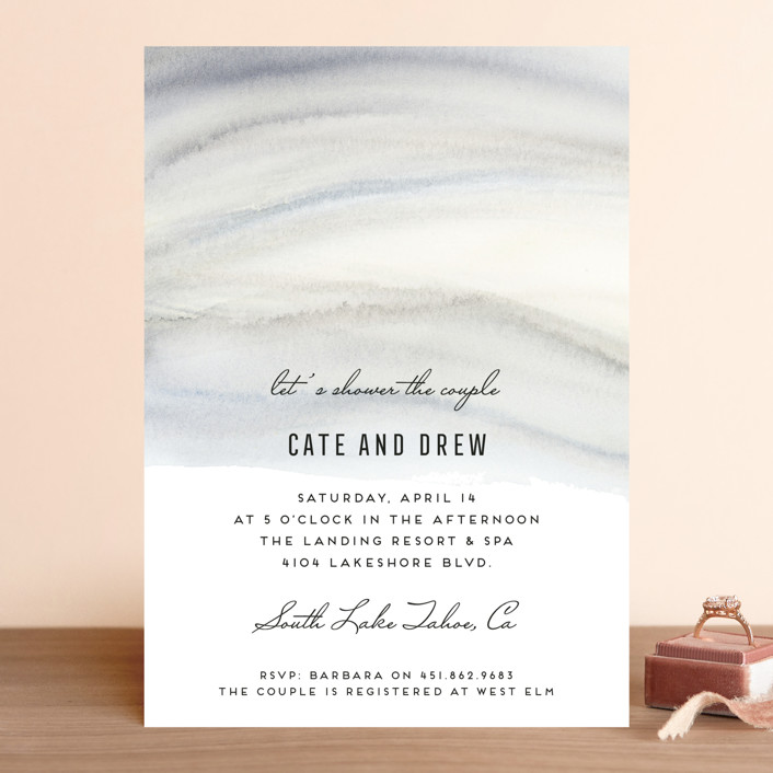 """""""Soft Marble"""" - Bridal Shower Invitations in Stone by Petra Kern."""