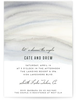 This is a grey bridal shower invitation by Petra Kern called Soft Marble with standard printing on signature in standard.