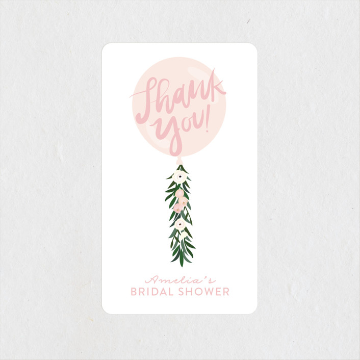 """Garden Balloon"" - Bridal Shower Stickers in Blush by Itsy Belle Studio."