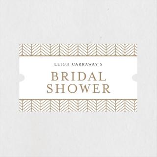 Chevron Bridal Shower Stickers
