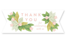 This is a green custom sticker by Shiny Penny Studio called Floral Bride Banner with standard printing on uncoated sticker paper in sticker.