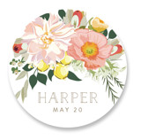 This is a colorful custom sticker by Susan Moyal called Spring Blooms with standard printing on uncoated sticker paper in sticker.