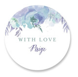 This is a blue custom sticker by Grace Kreinbrink called Big Blooms with standard printing on uncoated sticker paper in sticker.