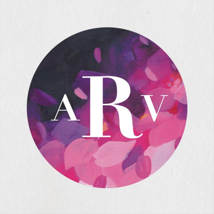 """""""Azalea"""" - Bridal Shower Stickers in Azalea by Holly Whitcomb."""