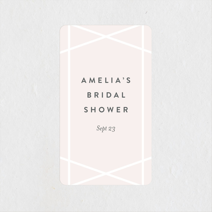 """""""Simplicity"""" - Bridal Shower Stickers in Blush by Kampai Designs."""