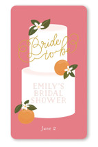 This is a pink custom sticker by Itsy Belle Studio called Citrus and  Cake with standard printing on uncoated sticker paper in sticker.
