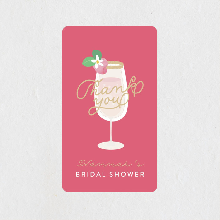 """""""Bubbly & Brunch"""" - Bridal Shower Stickers in Blush by Itsy Belle Studio."""