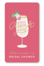 This is a gold custom sticker by Itsy Belle Studio called Bubbly & Brunch with standard printing on uncoated sticker paper in sticker.
