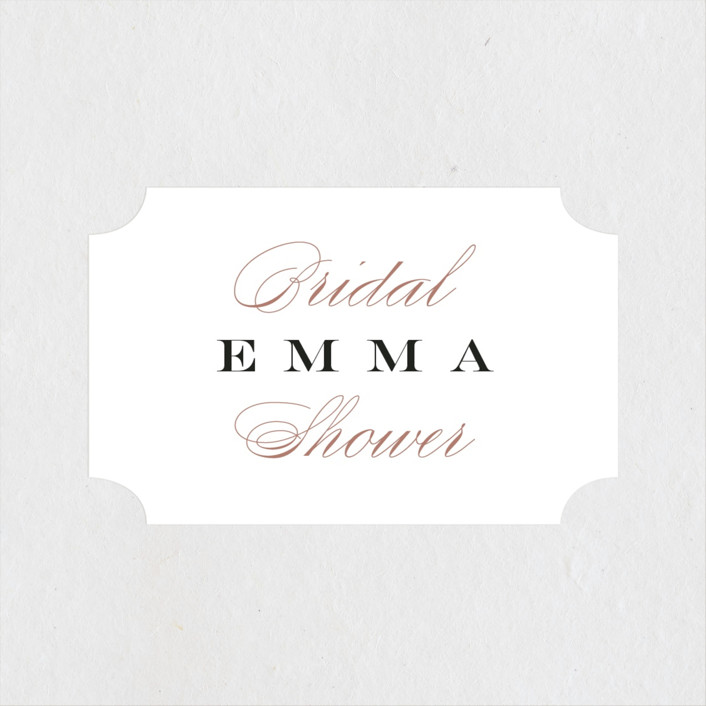 """""""Swish and Swoon"""" - Bridal Shower Stickers in Ebony by Carrie ONeal."""