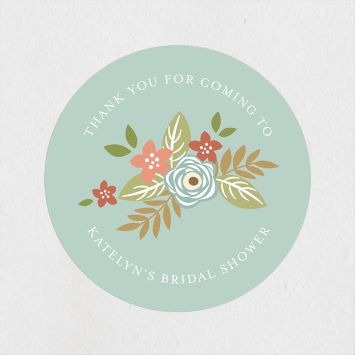 """Decadence"" - Bridal Shower Stickers in Rose by Jennifer Postorino."