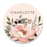 This is a pink custom sticker by Susan Moyal called Desert Blooms with standard printing on uncoated sticker paper in sticker.