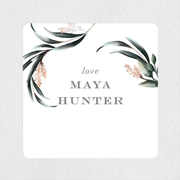 """Maya Rustica"" - Bridal Shower Stickers in Rose by Petra Kern."
