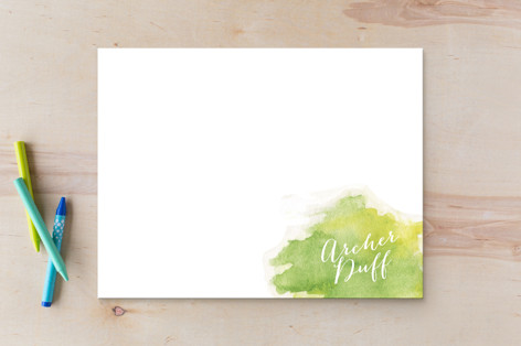 Watercolor Splash Business Stationery
