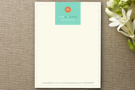 Cute as a Button Business Stationery
