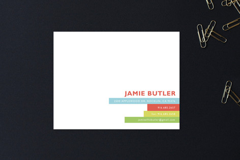 Bright Stripes Business Stationery