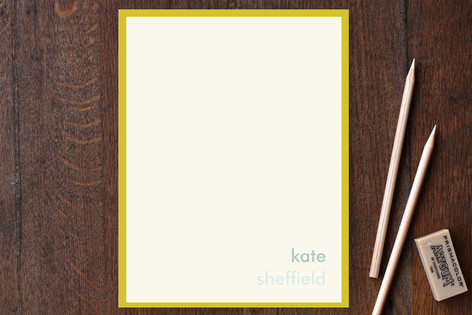 Mustard Stripe Business Stationery