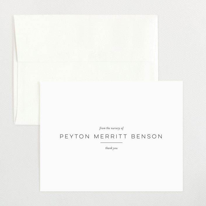 """""""Merritt"""" - Flat Birth Announcements Thank You Cards in Ink by Toast & Laurel."""