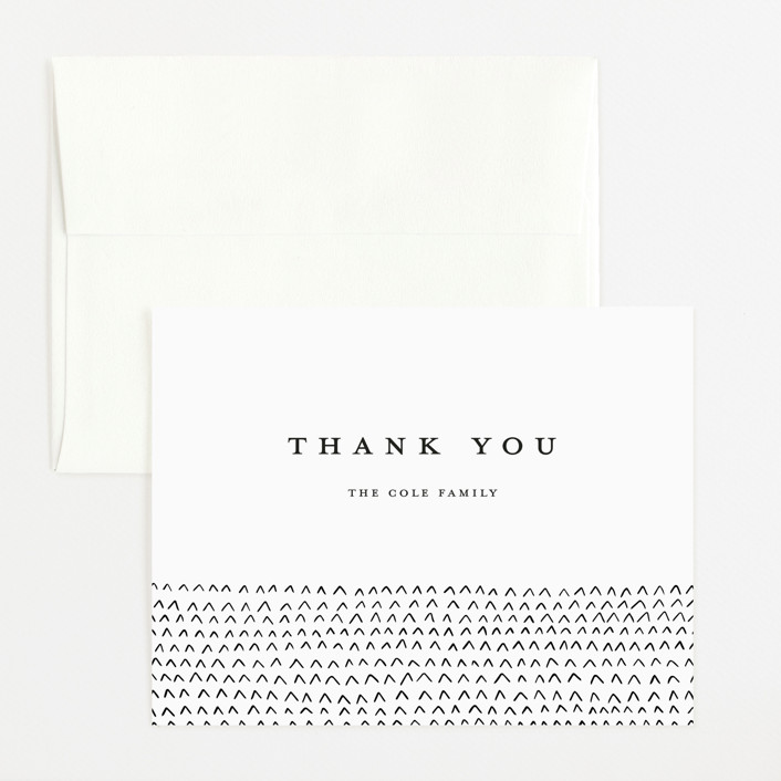 """""""Simple Birth Announcement"""" - Flat Birth Announcements Thank You Cards in Midnight by Kelly Stewart."""