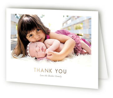 The Sweetest Hello Foil-Pressed Birth Announcement Thank You Cards