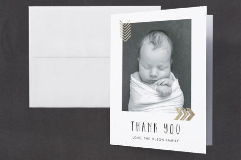 Little Wild Foil-Pressed Birth Announcement Thank You Cards