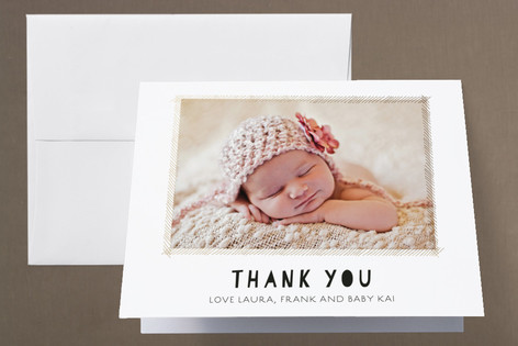 The Little Mobile Foil-Pressed Birth Announcement Thank You Cards