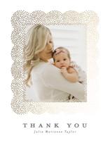 Glittery Foil-Pressed Birth Announcement Thank You Cards