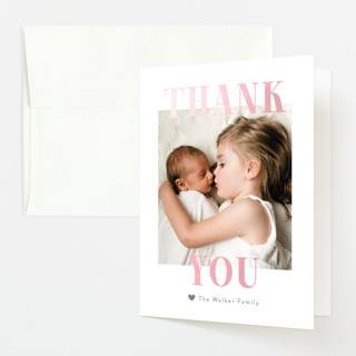 """""""BFFs"""" - Funny Gloss-press™ Birth Announcement Thank You Cards in Mauve by Pink House Press."""