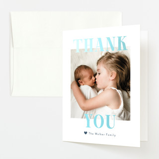 """""""BFFs"""" - Gloss-press™ Birth Announcement Thank You Cards in Mauve by Pink House Press."""