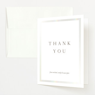 """""""Classic Namesake"""" - Gloss-press™ Birth Announcement Thank You Cards in Latte by Eric Clegg."""