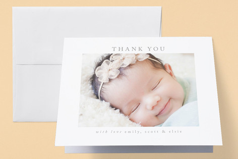 Joy Birth Announcements Thank You Cards