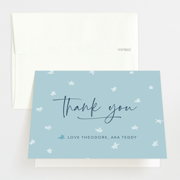 """""""My Nickname"""" - Funny Birth Announcements Thank You Cards in Shadow by Carolyn Kach."""