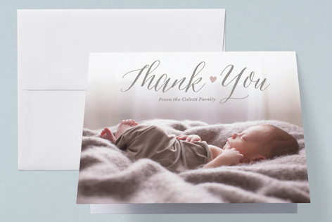 Sweet Heart Birth Announcements Thank You Cards