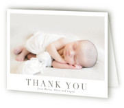 This is a brown baby thank you card by Toast & Laurel called Menil with standard printing on strathmore in standard.
