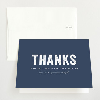 Statement Birth Announcements Thank You Cards