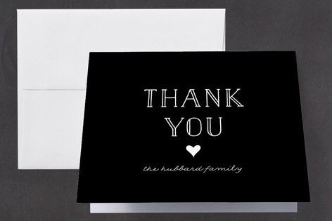 A Little Heart Birth Announcements Thank You Cards