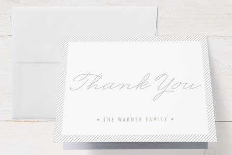 Simply Framed Birth Announcements Thank You Cards