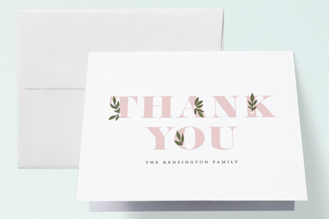 Botanical Name Birth Announcements Thank You Cards