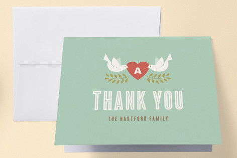 New Love Birth Announcements Thank You Cards
