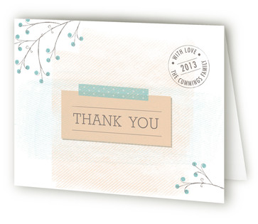 Girl from Above Birth Announcements Thank You Cards